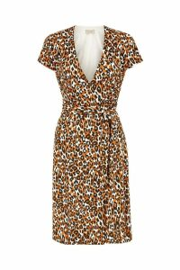 Womens Hobbs Orange Delilah Wrap Dress -  Orange