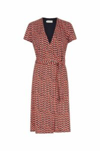 Womens Hobbs Red Delilah Wrap Dress -  Red