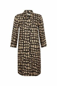 Womens Hobbs Black/Gold Aubery Dress -  Black