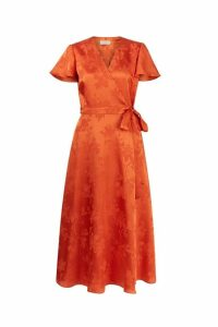 Womens Hobbs Orange Eleanor Dress -  Orange