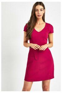 Womens Armani Exchange Pink Twill Dress -  Pink