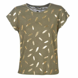Only  ONLFEATHER  women's T shirt in Green