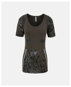 Stella McCartney Khaki Dark Green Running T-shirt, Women's, Size L