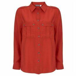Mint Velvet Red Utility Shirt