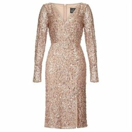 Adrianna Papell Beaded Wrap Dress