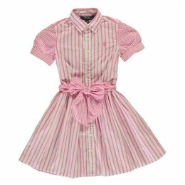 Polo Ralph Lauren Polo Bow Stripe Girl's Dress