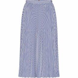 Tommy Hilfiger Daisy Stripe Midi-Skirt