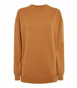 Rust Crew Neck Brushed Sweatshirt New Look
