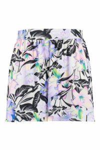 Womens Plus Print Flippy Hem Shorts - multi - 18, Multi