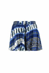Womens Plus Printed Woven Short - multi - 16, Multi