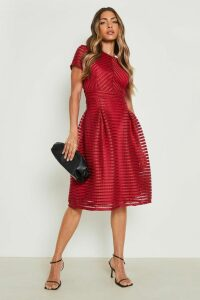 Womens Boutique Full Skirted Prom Midi Dress - red - 18, Red
