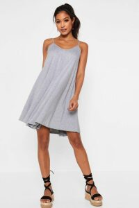 Womens Strappy Swing Dress - grey - 16, Grey