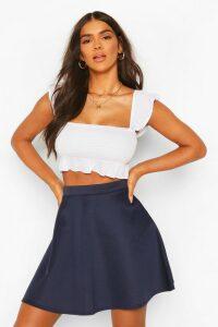 Womens Basic Fit And Flare Skater Skirt - navy - 8, Navy