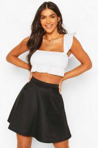 Womens Basic Fit And Flare Skater Skirt - black - 16, Black
