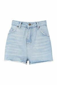 Womens Mid Rise Denim Short - Blue - 10, Blue