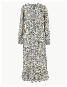 M&S Collection Ditsy Floral Waisted Midi Dress