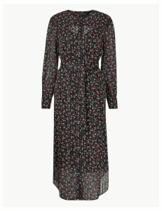 M&S Collection Western Ditsy Print Waisted Midi Dress