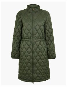 M&S Collection Longline Quilted Utility Coat