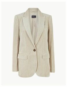 M&S Collection Pure Cotton Corduroy Blazer