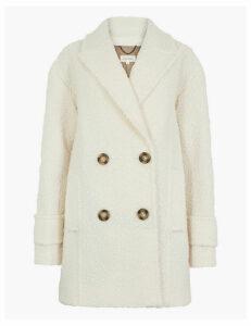 Per Una Double Breasted Bouclé Coat