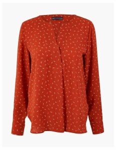 M&S Collection Ditsy Dash Printed Blouse