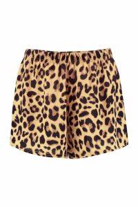 Womens Payton Leopard Print Woven Shorts - multi - 12, Multi