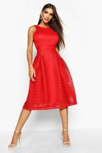 Womens Boutique Panelled Full Skirt Skater Dress - red - 14, Red