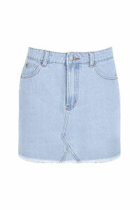 Womens Denim Mini Skirt - Blue - 14, Blue