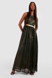 Womens Boutique Lace & Metallic Maxi Dress - black - 18, Black