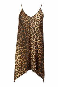 Womens Leopard Swing Dress - multi - 14, Multi