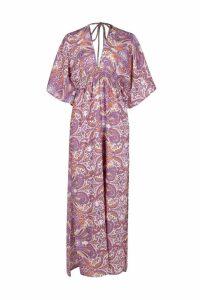 Womens Multi Paisley Maxi Dress - 12, Multi