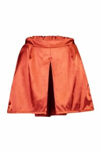 Womens Satin Tailored Short - orange - 12, Orange