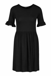 Womens Smock Dress - black - 8, Black