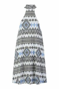 Womens Native Swing roll/polo neck Dress - grey - 10, Grey
