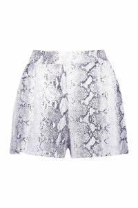 Womens Tall Snake Print Flippy Shorts - grey - 10, Grey