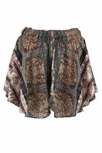 Womens Tall Narni Mixed Printed Floaty Woven Shorts - multi - 14, Multi