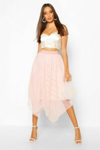 Womens Tulle Midi Skirt - Pink - 16, Pink