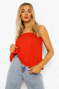 Womens Basic Swing Tube Bandeau - red - 8, Red