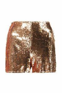 Womens Boutique All Over Sequin Shorts - metallics - 14, Metallics