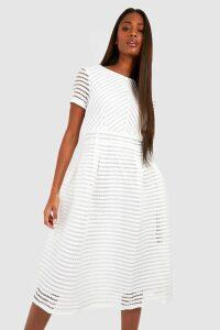 Womens Boutique Full Skirted Prom Midi Dress - white - 18, White