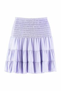 Womens Ra Ra Skirt With Shirred Waist - purple - 8, Purple