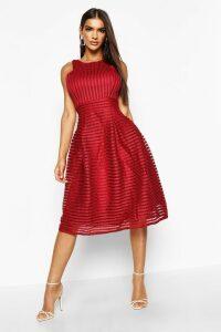 Womens Boutique Panelled Full Skirt Skater Dress - red - 8, Red