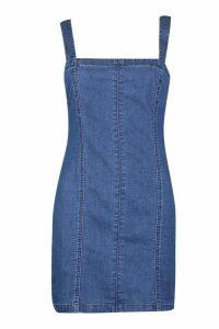 Womens Denim Bodycon Dress - blue - 14, Blue