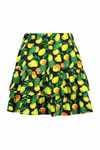 Womens Lemon and Lime Ra Ra Skirt - black - 10, Black