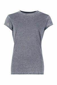 Womens Acid Wash Cap Sleeve T-Shirt - grey - XL, Grey