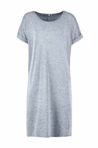 Womens Tall Oversized T-Shirt Dress - grey - 16, Grey