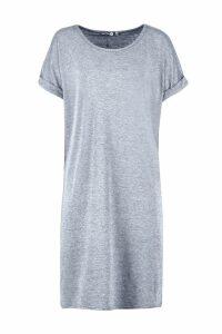 Womens Tall Oversized T-Shirt Dress - grey - 16, Grey