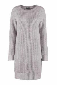 Womens Tall Soft Knit Jumper Dress - grey - M, Grey
