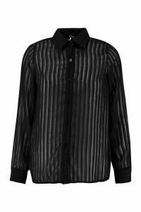 Womens Tall Burnout Shirt - black - 16, Black