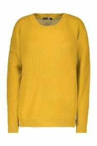 Womens Tall Crew Neck Jumper - yellow - M, Yellow
